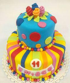 Dětský dort  www.cukrovi-kuncovi.cz v barevném pojetí dle Vašeho přání. Dorty svatební, dětské, klasické, ovocné, šlehačkové a mnohé další pro Vás rádi připravíme. Birthday Cake, Desserts, Food, Tailgate Desserts, Deserts, Birthday Cakes, Essen, Postres, Meals