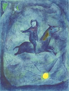 "Marc Chagall's ""Mounting the Ebony Horse"" from the Arabian Nights series"