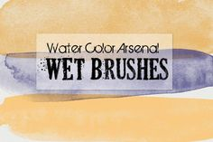 I just released Water Color Arsenal Wet Brushes by Robyn Gough on Creative Market. Digital Photoshop Brushes, digital scrapbook brushes, digital paint brushes, watercolor brushes