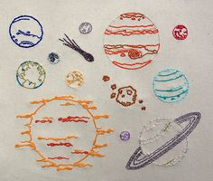 The Final Frontier Hand Embroidery Pattern. Classic by KHGarts
