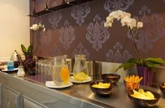 Breakfast Table at the Best Western Plus Hotel Ambra - Budapest - Hungary