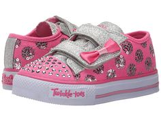 Skechers Kids Twinkle Toes Shuffles Sweet Steps Light-Up Sneaker  (Toddler/Little Kid)