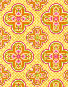 Patty Young Premium Quilt Fabric- Grand Ballroom OrangePatty Young Premium Quilt Fabric- Grand Ballroom Orange,