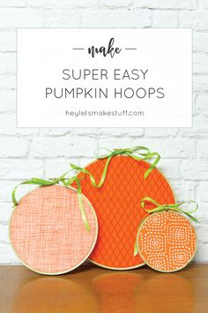 Easy Halloween Pumpkin Hoops is part of Quick Fall crafts - Decorate in a flash these easy halloween pumpkin embroidery hoops take less than 15 minutes to make! Halloween Projects, Easy Halloween, Holidays Halloween, Diy Craft Projects, Halloween Pumpkins, Diy Crafts, Halloween Labels, Halloween Stuff, Halloween Makeup