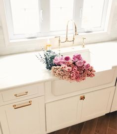 Nothing better than a sink full of flowers @liketoknow.it http://liketk.it/2uPoA #liketkit #LTKhome #kitchenremodel