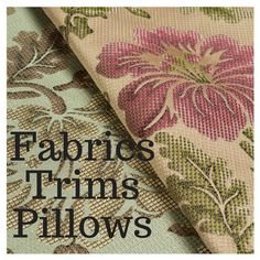 The Drapery and Fabric Store von FabricsTrimsPillows auf Etsy
