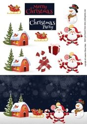 Santa in snow by night on Craftsuprint - View Now!