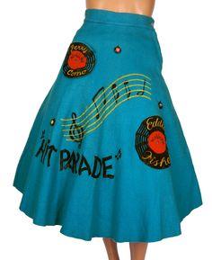 Vintage 50s rockabilly skirt.