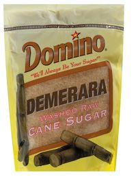 Demerara Washed Raw Cane Sugar    Domino® Demerara Washed Raw Cane Sugar is crystalized from the initial pressing of 100% pure cane. Domino® Demerara Washed Raw Cane Sugar has a light golden color from the natural molasses left behind after minimal processing. Demerara Washed Raw is a slightly larger crystal than granulated sugar and with a delicate crunchy texture. It is perfect for baking, sweetening your coffee or as a topping on your cereal, fruit or desserts.  Demerara Washed Raw Cane S...