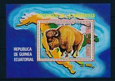 25782-Equatorial-Guinea-1977-Wild-Animals-Bison-MNH