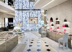 French fashion house Dior's flagship store in Tokyo by Japanese studio SANAA has had its interior overhauled by American architect Peter Marino.