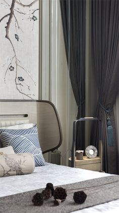 Join us and find out the best about mid-century hotel lighting and DelightFULL! Hotel Bedroom Design, Master Bedroom Interior, Room Interior Design, Home Bedroom, Modern Bedroom, Bedroom Ideas, Bedroom Decor, Designer Hotel, Modern Chinese Interior