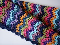 Vintage Crocheted Blanket: A different take on the ripple stitch.  http://www.ravelry.com/patterns/library/vintage-crocheted-blanket. Click the link, NOT the picture to be directed to pattern.