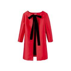 MIU MIU ❤ liked on Polyvore featuring outerwear, coats, jackets, casacos, miu miu, miu miu coat and red coat