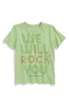 Peek+'We+Will+Rock+You'+T-Shirt+(Toddler+Boys,+Little+Boys+&+Big+Boys)+available+at+#Nordstrom