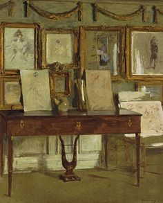 ◇ Artful Interiors ◇ paintings of beautiful rooms - Interior - Walter Gay - Chez Helleu, 1902
