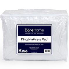 Bare Home Premium Reversible Microplush Down Alternative Mattress Pad Size: