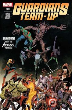 Guardians Team-Up (2015-) #1: Launching directly out of Guardians of the Galaxy comes the new ongoing series bringing the Guardians to the Marvel Universe's grandest stage for an opening arc of out-of-this-world adventures with some of the biggest hitters Marvel has to offer. Kicking off with a cosmic threat so massive, it'll take more than just the Guardians of the Galaxy to stop it! Assembled side by side with the mighty Avengers, prepare for two titanic teams to unite like you've never…