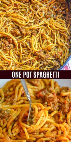 Spaghetti is one of those meals always on my back burner. No idea what's for dinner? Spaghetti to the rescue. Thankfully, it doesn't have to take a ton of pots and pans anymore, this one pot spaghetti Italian Recipes, Crockpot Recipes, Cooking Recipes, Healthy Recipes, Tuna Recipes, Cooking Bacon, Meatloaf Recipes, Sauce Recipes, One Pot Recipes