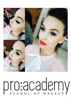 #makeupbyproacademy #redlips   #art&fun