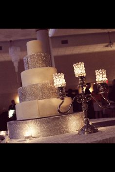 Talk about bling! This wedding cake is like another piece of jewelry for your big day! #weddings #cake #sparkleandshine