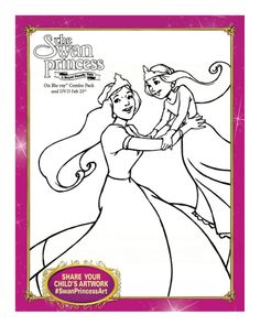 The Swan Princess Printable Coloring Page