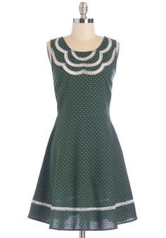 It's About Pine Dress. Youve donned pretty pastels and bright neons alike, but tonight, its time to break out this pine-green dress! #green #modcloth