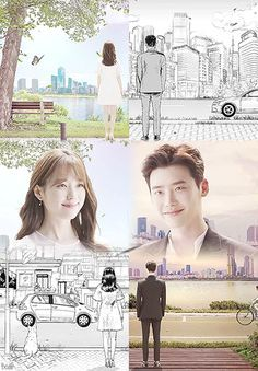 Lee Jong Seok and Han Hyo Joo are Illustrated and Three Dimensional Characters Meeting in W: Two Worlds   A Koala's Playground