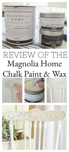 A Full Review Of Magnolia Home Chalk Style Paint And Wax. Demo And  Comparison With
