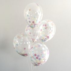 Confetti Balloon / single pre filled clear confetti by PomLove