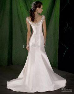 Wedding Party Dresses Hot Order !!new Elegant Appliques Satin Sheath Sleeveless Bridal Gown Dress Wedding Dresses Rl1828 Simple Wedding Dresses From Prettybrides, $116.86  Dhgate.Com