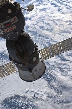 Soyuz and a Winter View of Earth.