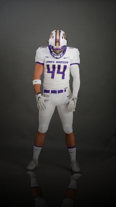 2017 James Madison University Dukes white football uniforms Sports Uniforms 79df1025b