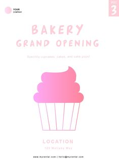 Bakery Flyer Template Bakery Flyer Templates bakery Mobile Advertising, Vector Format, Grand Opening, Flyer Template, Flyers, Bakery, Custom Design, Templates
