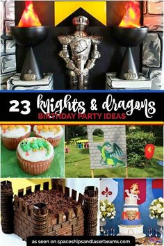 Knights and Dragons Birthday Party Ideas!