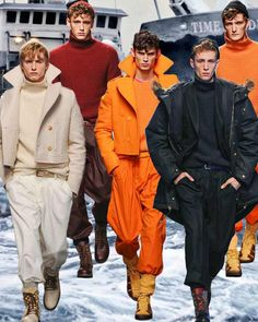Mens fashion trend forecast: Fall-Winter 2014/2015 themes from TREND COUNCIL fiery hues