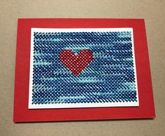 """33 Likes, 1 Comments - Joy Ott (@dustypenny) on Instagram: """"Stitched with love. #papersmooches @papersmooches #dustypenny #crossstitchdie #stitchedcards"""""""