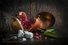 Pomegranate by DavidLeyland  IFTTT 500px beautiful copper diet food fresh freshness fruit healthy leaf natural organic plant po