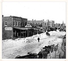 """""""The Great Blizzard of 1886"""" Kansas. Years of drought, ruined many farmers. Some of which used the slogan """"In God we Trusted, in Kansas we busted."""""""