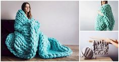 Maak eenvoudig zelf deze waanzinnig gave dekens voor in de winter of voor op de bank. Ontdek hoe je ze maakt!