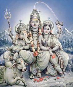 Shiv Parvati with Ganapati Arte Ganesha, Arte Shiva, Mahakal Shiva, Shiva Statue, Shiva Art, Lord Ganesha, Shiva Parvati Images, Krishna Hindu, Lord Shiva Hd Images