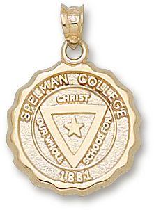 Spelman College-Brushed Metal Tie Clip-Gold