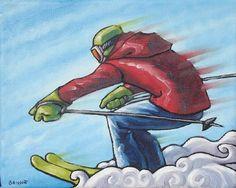(Peinture), in par François Brisson Brisson, Skiing, Images, Artist, Artwork, Skiers, Paint, Search, Ski