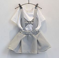 Cheap clothes brush, Buy Quality clothes for boxer dogs directly from China clothes for pregnant ladies Suppliers: Bear Leader Girls Clothes 2016 Brand Girls Clothing Sets Kids Clothes Bowknot Pattern Toddler Girl Tops+Skirt Suit Baby Girl Dresses, Baby Outfits, Baby Dress, Toddler Outfits, Kids Outfits, Little Girl Fashion, Kids Fashion, Fashion Outfits, Fashion Purses