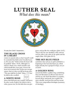 Luther Seal Explanation Color Full Page Printable