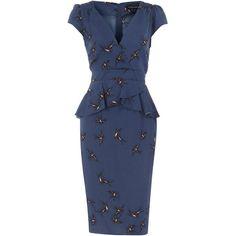Ink swallow peplum dress ($35) found on Polyvore