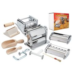 CucinaPro Imperia iPasta Deluxe 11pc Pasta Making Factory Gift Set  - Includes Machine, attachments, recipes, and accessories *** Find out more about the great product at the image link.
