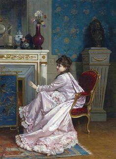 Auguste Toulmouche 1829-1890   Paris.  Tafetta.