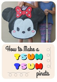 How to make a DIY tsum tsum piñata using recycled & inexpensive materials.