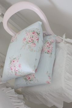 Pillow covers made of Rachel Ashwell fabric.  Love this fabric!